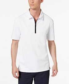 DKNY Men's 1/4-Zip Tech Polo
