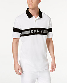 DKNY Men's Logo Striped Polo