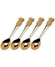 Godinger Pineapple 4-Pc. Dessert Spoon Set