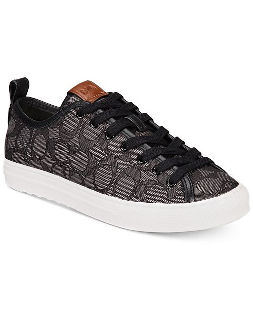 49e71fe5a2e6 COACH Jacquard Signature Fashion Sneakers  COACH Jacquard Signature Fashion  Sneakers ...