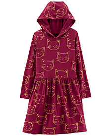 Carter's Little & Big Girls Cat Graphic Hooded Dress