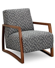 "Clarke II 28"" Wood Accent Chair, Created for Macy's"
