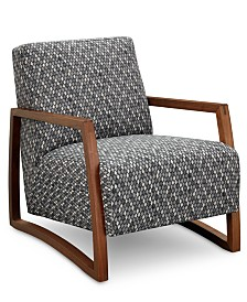 """Clarke II 28"""" Wood Accent Chair, Created for Macy's"""
