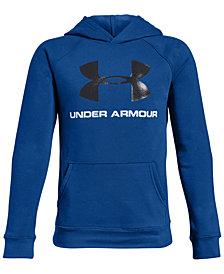 Under Armour Big Boys Rival Logo-Print Hoodie