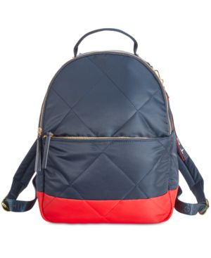 KENSINGTON QUILTED COLORBLOCKED BACKPACK