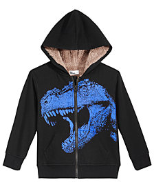 Epic Threads Toddler Boys Dino-Print Fleece-Lined Hoodie, Created for Macy's