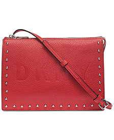 DKNY Commuter Pebble Leather Zip Logo Crossbody, Created for Macy's