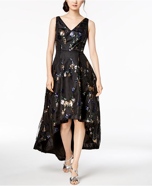 1bb1b0e7e510 Calvin Klein High-Low Sequin-Embellished Gown   Reviews - Dresses ...