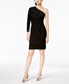 Calvin Klein Glitter One-Shoulder Dress