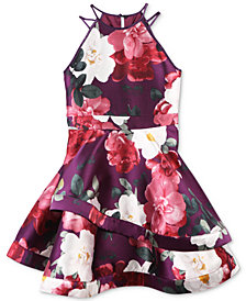 Speechless Big Girls Floral-Print Skater Dress