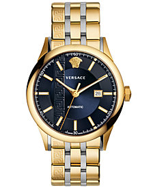 Versace Men's Swiss Automatic Aiakos Two-Tone Stainless Steel Bracelet Watch 44mm