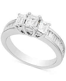 Diamond Three-Stone Engagement Ring (1-1/2 ct. t.w.) in 14k White Gold