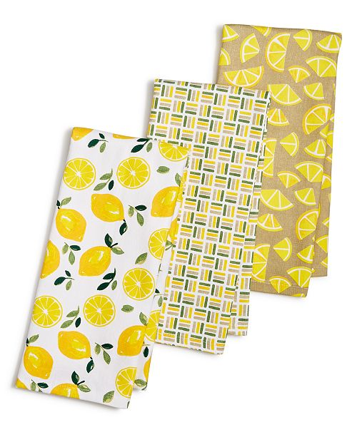 3 Pc Citrus Kitchen Towel Set Created For Macy S