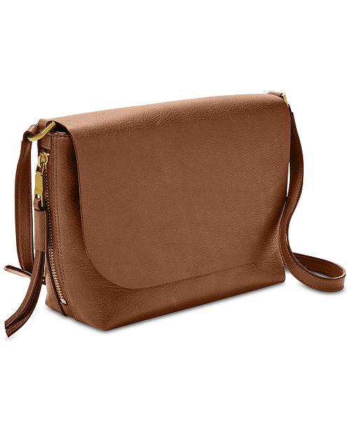97cbf6ca82a2c Fossil Maya Leather Crossbody   Reviews - Handbags   Accessories ...
