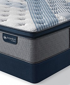"iComfort by Serta Blue Fusion 1000 14.5""  Hybrid Luxury Firm Euro Pillow Top Mattress Set - Queen Split"