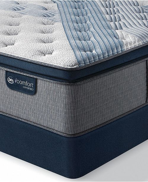 "Serta iComfort by Blue Fusion 1000 14.5""  Hybrid Luxury Firm Euro Pillow Top Mattress Set - King"
