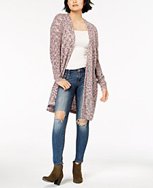 American Rag Juniors' Space-Dyed Duster Cardigan, Created for Macy's