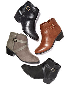 Karen Scott Falonn Ankle Booties, Created for Macy's