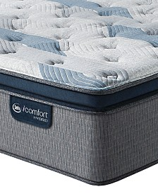 "iComfort by Serta Blue Fusion 300 14"" Hybrid Plush Euro Pillow Top Mattress Collection"