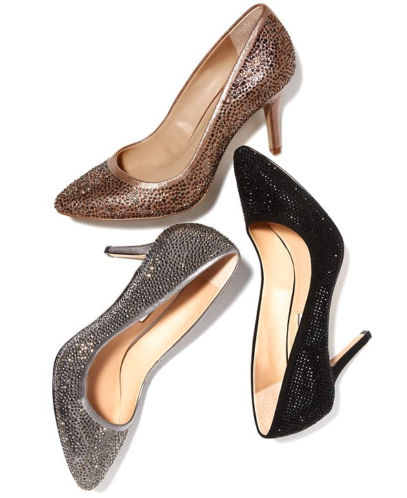 INC International Concepts I.N.C. Women's Zitah Rhinestone Pointed Toe Pumps, Created for Macy's