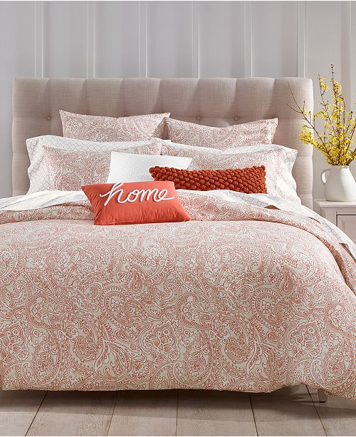 Charter Club Spice Paisley 300-Thread Count 3-Pc. Comforter Sets, Created For Macy's