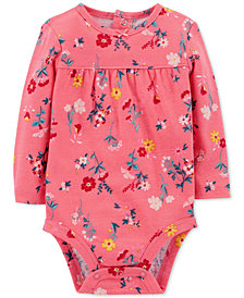 Carter's Baby Girls Floral-Print Cotton Bodysuit