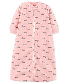 Carter's Baby Girls Love-Print Microfleece Sleep Bag