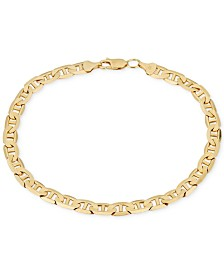 Men's Open Link Chain Bracelet (5-5/8mm) in Solid 10k Gold