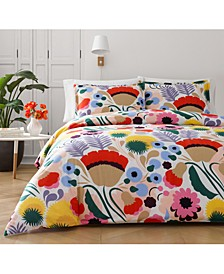 Ojakelkukka Cotton 3-Pc. Full/Queen Duvet Cover Set