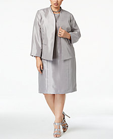 Le Suit Plus Size Flyaway Dress Suit