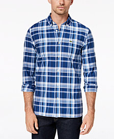 Lacoste Men's Plaid Oxford Shirt