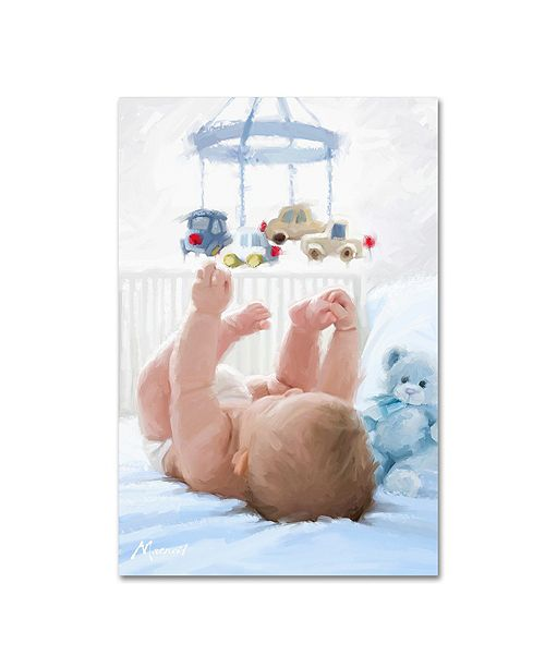"Trademark Global The Macneil Studio 'Baby in Cot' Canvas Art - 12"" x 19"""
