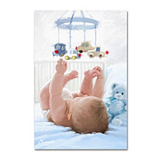 The Macneil Studio 'Baby in Cot' Canvas Art Collection