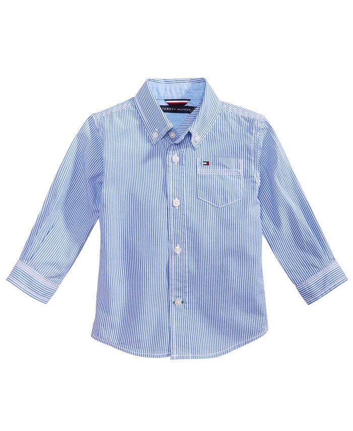 Tommy Hilfiger - Baby Shirt, Baby Boys Long Sleeve Stripe Shirt