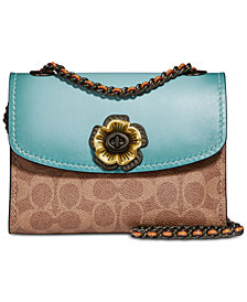 COACH Parker 18 Signature Crossbody