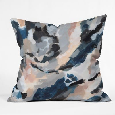 20 x 20 Deny Designs Bree Madden Aqua Wave Outdoor Throw Pillow