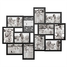 Collage Picture Frame with 12 Openings for 4x6 Photos by Lavish Home, Black
