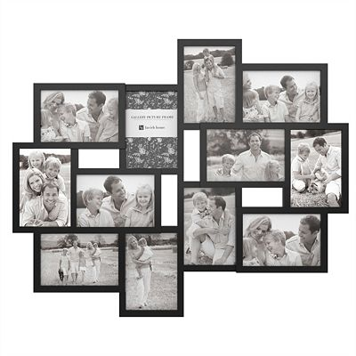 Trademark Global Collage Picture Frame With 12 Openings For 4x6
