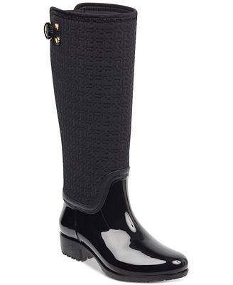 Tommy Hilfiger rubber rain boots - womens