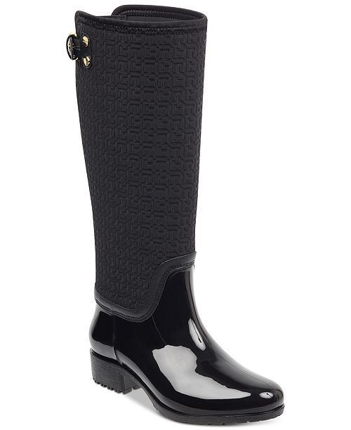 a57cb89a905d Tommy Hilfiger Women s Fhibe Rain Boots   Reviews - Boots - Shoes ...
