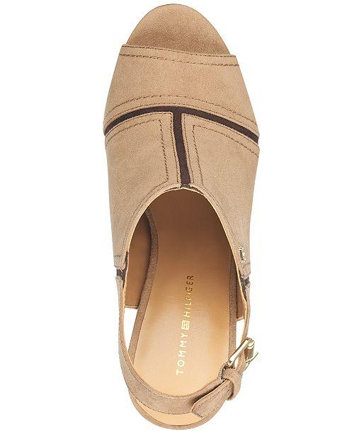 b856532a3ea Tommy Hilfiger Relita Block-Heel Dress Sandals   Reviews - Sandals ...