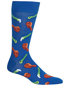 Hot Sox Men's Chicken Wings & Celery Crew Socks