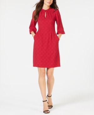 Nanette Lepore 3/4-Sleeve Keyhole Dress, Created for Macy's 6694658