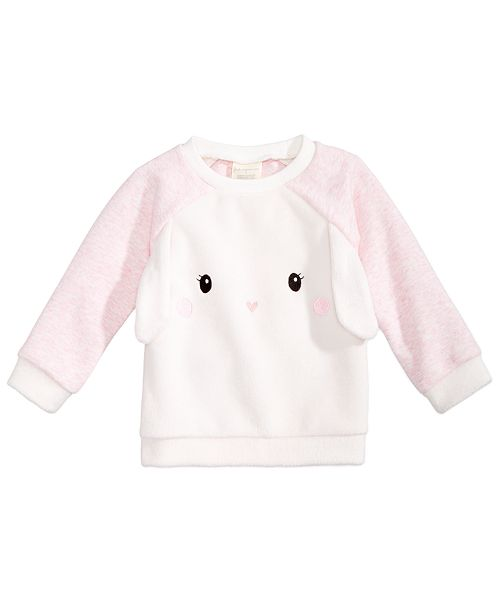 355885752 First Impressions Baby Girls Bunny Sweatshirt