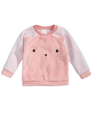 First Impressions Baby Girls Minky Kitty FauxFur Sweatshirt Created for Macys