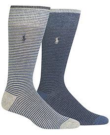 Polo Ralph Lauren Men's 2-Pk. Heathered Stripes Socks
