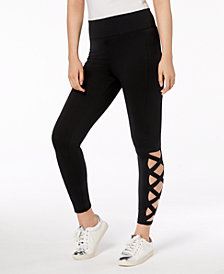 Material Girl Juniors' Laddered Leggings, Created for Macy's