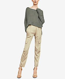 BCBGMAXAZRIA Long-Sleeve Asymmetrical Knit Sweater