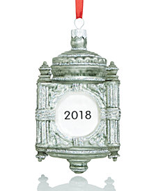 Holiday Lane Glass State Street 2018 Clock Ornament, Created for Macy's