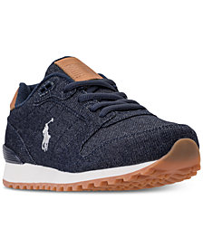 Polo Ralph Lauren Little Boys' Oryion Denim Casual Sneakers from Finish Line